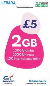 Lebara UK SIM Card with £20 (Official Triple SIM - all sizes std / micro / nano)