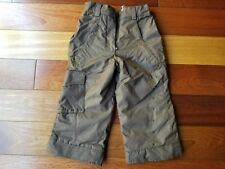 OBERMEYER I-Grow Kids Boys Girls Snow Bib Ski Pants Brown Size 4