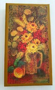 "Vintage Hallmark Photo Album 1972 Holds 72 Photos 3.25""x4.25"" Floral Boho Decor"