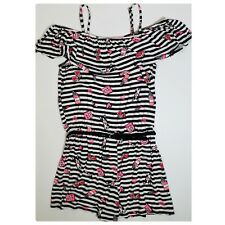 Justice Belted Ruffle One-Piece Romper Girls size 16 Regular NWOT