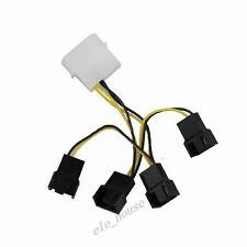 10pcs 4 Pin to 4 x 3 Pin Male Y Splitter PC Computer Fan Power Transform Wire