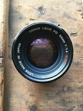 Tested and Working Canon 50mm f/1.4 S.S.C. Manual Focus Lens for Canon FD Mount