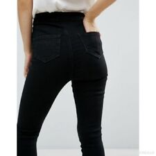 Missguidded Petite Vice high waisted skinny jeans (A90)