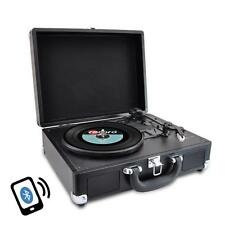 PVTTBT6BK Bluetooth Classic Vintage Style Record Turntable, Rechargeable Battery