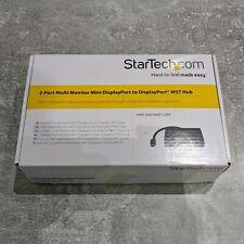 StarTech 3-Port Multi Monitor Mini to DisplayPort MST Hub Splitter MSTMDP123DP