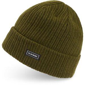 Dakine Finley Beanie, Acrylic Rib Knit, Unisex One Size, Dark Olive Green Fleck