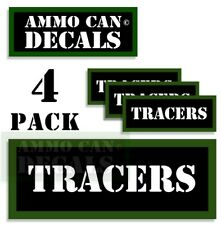 """TRACERS Ammo Can Decals Ammunition Ammo Can Labels 3""""x1.15"""" Vinyl 4-pack"""