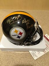 Brett Keisel Pittsburgh Steelers Signed  Mini Football Helmet w/Inscript JSA COA