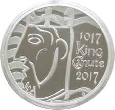 2017 Royal Mint King Canute UK Piedfort £5 Five Pound Silver Proof Coin Box Coa