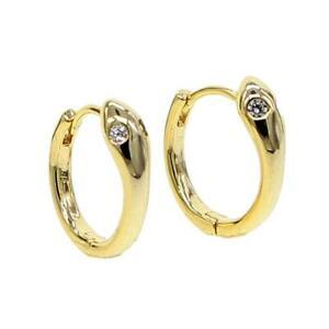 """DJADEE Damen Ohrringe """"Snake"""" 750 Gold 18K vergoldet gelbgold Creole O5590DS"""
