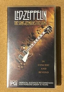 LED ZEPPELIN THE SONG REMAINS THE SAME  VIDEO  VHS PAL