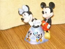 "2005 ""MAGICAL MOMENT'S""  Once upon a Kiss Mickey Minnie BELL BRADFORD 5.5'' TALL"