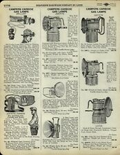 1929 PAPER AD Justrite Campers Carbide Gas Head Lamp Coal Mine Miners