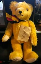 Hermann Mohair Jointed Teddy Bear w/ Tag Coburg Germany Reunification 3-10-1990