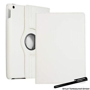 Housse Etui Blanc pour Apple iPad 10.2 2020 Coque avec Support Rotatif 360°