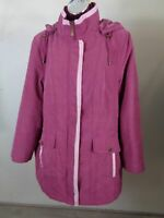 WOMENS BONMARCHE PINK ZIP UP BUTTON UP INSULATED COAT JACKET HOODED M MEDIUM