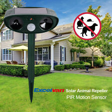Solar Sensor Motion Activated Animal Repeller Scarecrow Adjustable