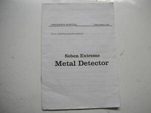 Seben Extreme Metall Detektor Owner Manual Eng