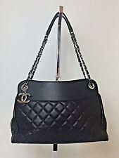 CHANEL Large Black Quilted Lambskin Leather Shopper Tote Shoulder Bag 15C $4500