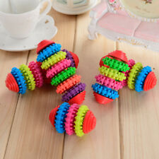 Pet Dog Toy Puppy Dental Teething Healthy Teeth Gum Rubber Chew Tool Squeaky Cat