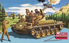 Revell Monogram Renwal M42 Duster Twin Forty Bofors guns tank model kit  1/32