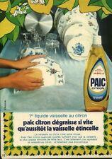Publicité ancienne produit vaisselle Paic citron 1971