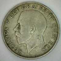 1921 Great Britain Silver Half Crown Coin You Grade It UK 1/2 Crown