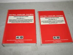 HOLDEN VECTRA , CALIBRA  WORKSHOP MANUALS X2 ( GENUINE HOLDEN DEALER BOOKS )