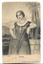 Judaica Germany Old Postcard Jewish Theme Rebekka By Phonix Berlin