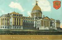 c1910 Embossed State Capitol Building, Jackson, Mississippi Postcard