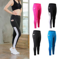 Women's Workout Running Yoga Tights with Pocket Slimming Dri-fit Long Pants