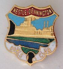 Nestle Dennington Bowling Club Badge Pin Rare Chocolate Factory Vintage (M12)