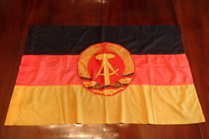Cold War East Germany DDR State Flag 22 x 37 Inches Vibrant Original & Rare Size
