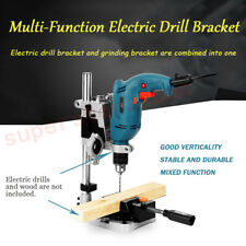 Electric Drill Holder Stand Double-head Support Grinder Bench Max Clamp φ42mm