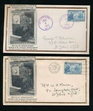 NEWFOUNDLAND 1941 WILFRED GRENFELL ILLUSTRATED FDCs...ST JOHNS + ST ANTHONY