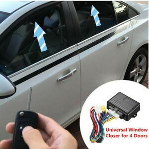 Auto Car Safety Power Window Roll Up Closer Alarm Module Universal for 4 Doors