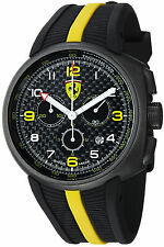 Ferrari Men's Fast Lap Black Chronograph Dial Swiss Quartz Watch FE10IPGUNCGFC
