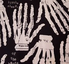 """31"""" Queen of We'en J Wecker Frisch Quilting Treasures Ivory Skeleton Hands"""