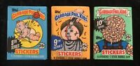 Garbage Pail Kids 1987 Unopened Wax Pack Lot 8th 9th 10th Series 8 9 10 Sealed