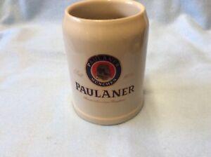 Paulaner Ceramic Beer Mug. 1/2 Liter. Logo on Mug