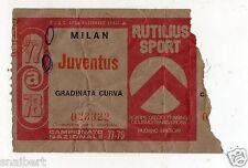 CALCIO   BIGLIETTO  TICKET   MILAN    JUVENTUS  CAMPIONATO   1977/78