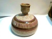 """Kozlowski Wizard of Clay Pink Speckled Drip Glaze Ikebana Pottery Vase 4"""""""