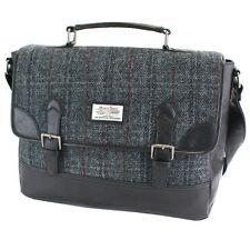 Harris Tweed Satchel Briefcase Black & Grey NEW   25141