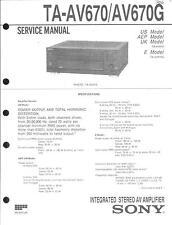 Sony Original Service Manual für TA-AV 670/G