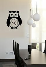 Wall Stickers Vinyl Decal Owl Clocks Bird Nursery Home Decor ig694