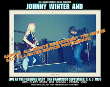 JOHNNY WINTER  AND RICK DERRINGER 1970 SEPT  FILLMORE 8 X 10 PHOTO 1 IN STOCK