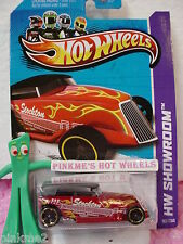Case F 2013 Hot Wheels PHAETON #182☆Kmart Excl RED☆Stockton Guitars☆Showroom