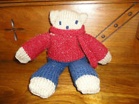 Handmade OOAK Crochet Teddy Bear 10 inch