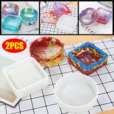 2X Ashtray Silicone Mold Resin Jewelry Making Mould Epoxy Pendant Craft DIY Tool