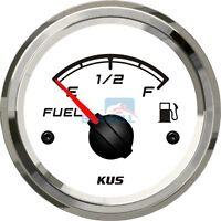 KUS Fuel Level Gauge Marine Boat Truck Car RV Fuel Indicator  52mm 240-33ohms